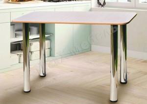 Кухонный стол на металлических опорах (крышка ЛДСП)