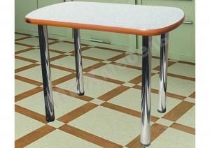 Кухонный стол на металлических опорах (кант)