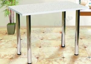 Кухонный стол на мет.опорах (кромка)